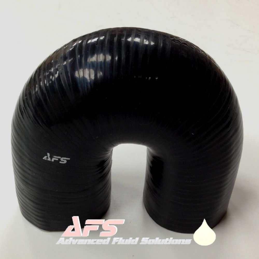 41mm 1 5 8 Inch I D Black 180 Degree Silicone Pipe U Bend